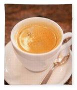Espresso In White Fleece Blanket