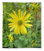 Cup Plant Blooms Fleece Blanket