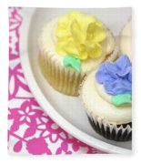 Cupcakes On A Plate Fleece Blanket