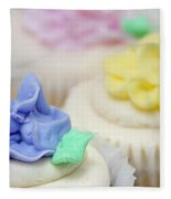 Cupcakes Shallow Depth Of Field Fleece Blanket