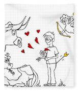 Cupid Valentines Fleece Blanket