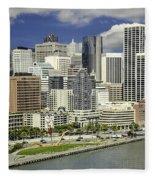 Cupid's Span Waterfront San Francisco Fleece Blanket