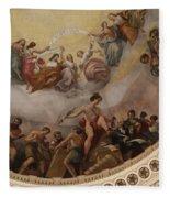 Cupola Painting - Washington Dc Fleece Blanket