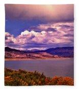Curecanti Autumn Blue Mesa Colorado Fleece Blanket