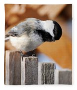 Curious Chickadee Fleece Blanket