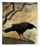 Curious Crow Fleece Blanket