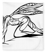 Curious Fairy 1 Fleece Blanket