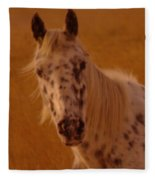 Curious Pony With Spots Fleece Blanket