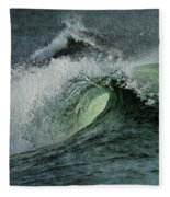Curl Of The Wave Fleece Blanket