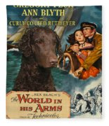Curly Coated Retriever Art - The World In His Arms Movie Poster Fleece Blanket