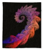 Curly Swirl - Digital Painting Effect Fleece Blanket