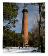 Currituck Beach Lighthouse Corolla Nc Color Img 3772 Fleece Blanket