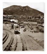 Curry Mine.virginia City Nevada.1865 Fleece Blanket