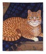 Curry The Cat Fleece Blanket