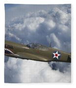 Curtiss P-40 Warhawk Flying Tigers Fleece Blanket