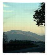 Curve In The Road Fleece Blanket