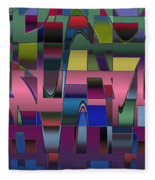 Curves And Trapezoids  Fleece Blanket