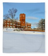 Cushing Academy In Winter Fleece Blanket