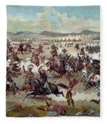 Custer's Last Charge Fleece Blanket