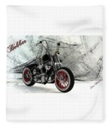 Custom Bobber Fleece Blanket