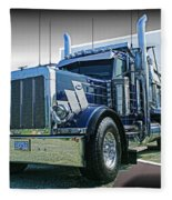 Custom Dump Truck Fleece Blanket