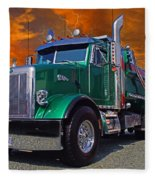 Custom Gravel Truck Catr0278-12 Fleece Blanket