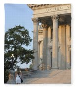 Customs House Steps Fleece Blanket