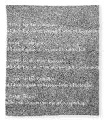 Cut In Stone Fleece Blanket