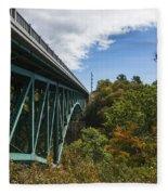 Cut River Bridge 1 C Fleece Blanket