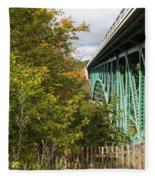 Cut River Bridge 2 Fleece Blanket