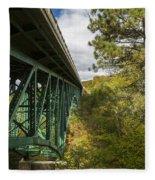 Cut River Bridge 3 A Fleece Blanket