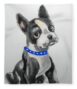 Boston Terrier Wall Art Fleece Blanket