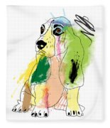 Cute Dog 2 Fleece Blanket