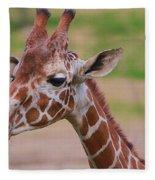 Cute Giraffe Portrait  Fleece Blanket