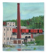 Cutler's Mill - Circa 1870 Fleece Blanket