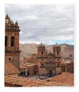 Cuzco Plaza Del Armas Fleece Blanket