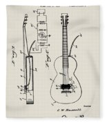Cw Russell Acoustic Electric Guitar Patent 1939 Fleece Blanket