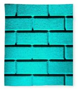 Cyan Wall Fleece Blanket