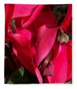 Cyclamen Fleece Blanket