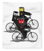 Cycling Recycle Bins Fleece Blanket