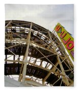 Cyclone Roller Coaster Fleece Blanket