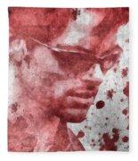 Cyclops X Men Paint Splatter Fleece Blanket