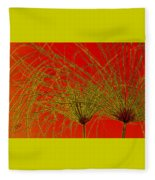 Cyperus Papyrus Abstract Fleece Blanket