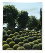 Cypress And Boxwood Garden Fleece Blanket