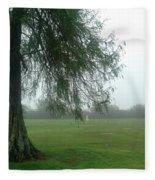 Cypress In The Mist Fleece Blanket