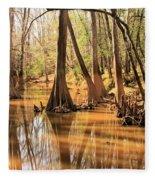 Cypress In The Swamp Fleece Blanket