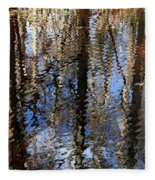 Cypress Reflection Nature Abstract Fleece Blanket