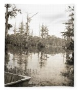 Cypress Swamp Fleece Blanket