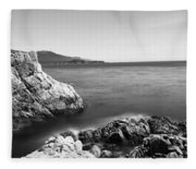 Cypress Tree At The Coast, The Lone Fleece Blanket