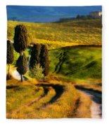 Cypresses Of Toscany Fleece Blanket